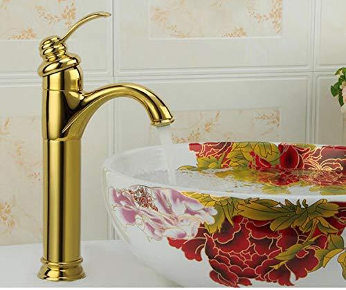 Montaje de la cubierta de latón antiguo orificio de chapado en oro del grifo Mueble de baño grifo del lavabo de mezclador del grifo, SLT0080L-G, latón