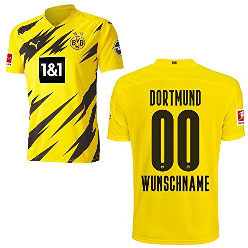 PUMA Borussia Dortmund BVB Heimtrikot 2020 2021 Home Trikot Sponsor BL Logo Herren Wunschname Gr M