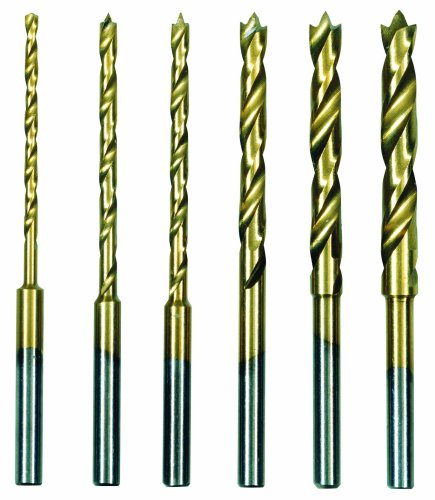 Proxxon 28876 HSS twist drill set with centring pin 1,5-4mm Shaft 3mm, 6-piece set