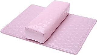 Gaoominy ソフトハンドクッション枕とパッドレストネイルアートアームレストホルダー マニキュアネイルアートアクセサリー PUレザー ピンク