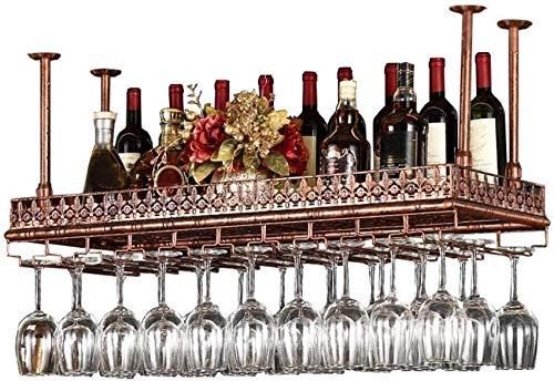 Estantes De Metal Para Almacenamiento De Vino En El Techo, Estante De Vidrio Para Copas De Copa De Vino De Bronce Negro, Estante De Exhibición De Decoración De Barra De Soporte De Copa De Vino Colgan