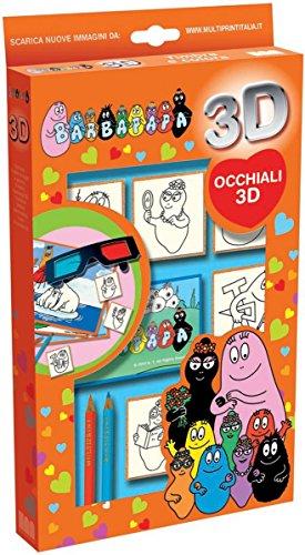Pieczatki 3D + okulary Barbapapa