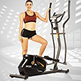 ANCHEER Elliptical Machine, Quiet & Smooth, Magnetic Elliptical Cross Trainer Machine with 10 Levels Resistance and LCD Digital Monitor, Best Indoor Exercise Machine Trainer for Home Gym Office