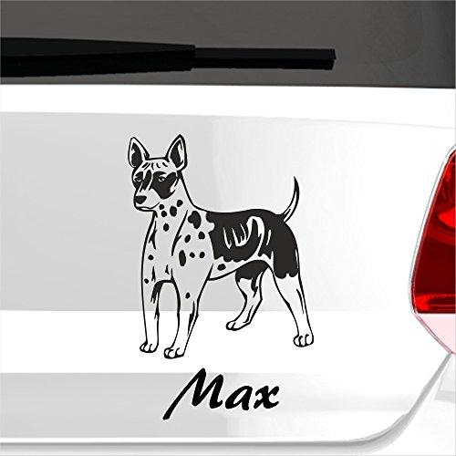 malango® Autoaufkleber Amerikanischer Nackthund Wunschname Autosticker Hunderasse Tier Tierwelt Aufkleber Sticker ca. 13 x 20 cm gold