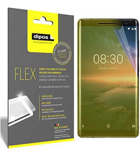 dipos I 3X Schutzfolie 100prozent kompatibel mit Nokia 8 Sirocco Folie (Vollständige Bildschirmabdeckung) Bildschirmschutzfolie