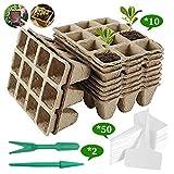 asterisknewly Set De Cultivo De Plantas Culinarias De 10 Piezas: Macetas Y Semilleros De Germinación Biodegradables. Crear El Huerto En Tu Cocina.