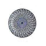 Piatti piani in ceramica motivi floreali piano piano piatto, sotto smalto colore ceramica antipasto, dessert, pasta, dessert portata piatto, bianco e blu. ceramica (colore : C, dimensioni: 4 pezzi)