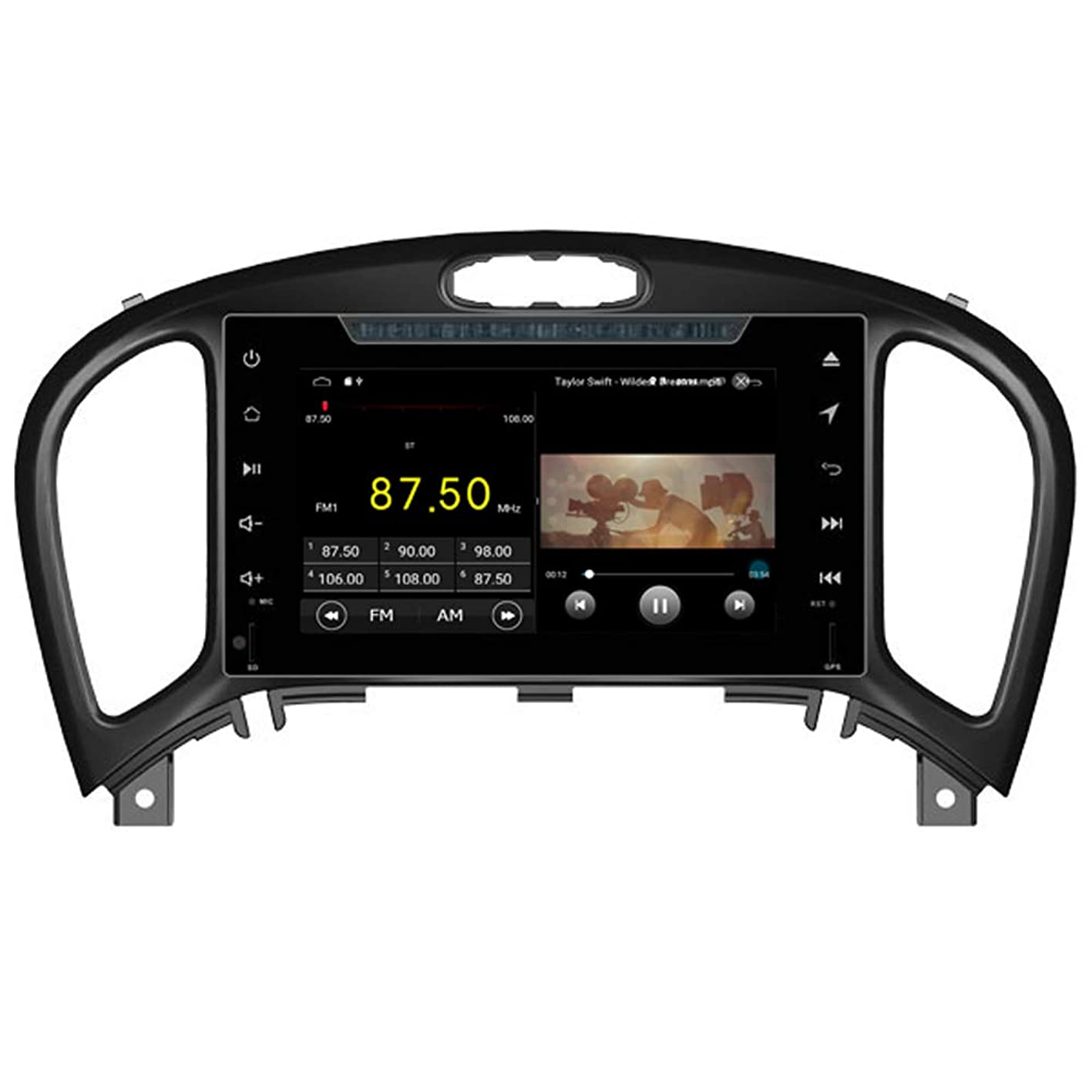 Autosion in Dash Android 8.1 Car DVD Player Radio Head Unit GPS Navi Stereo for Nissan Juke 2012 2013 2014 2015 2016 2017 Steering Wheel Control etwebazevgk367