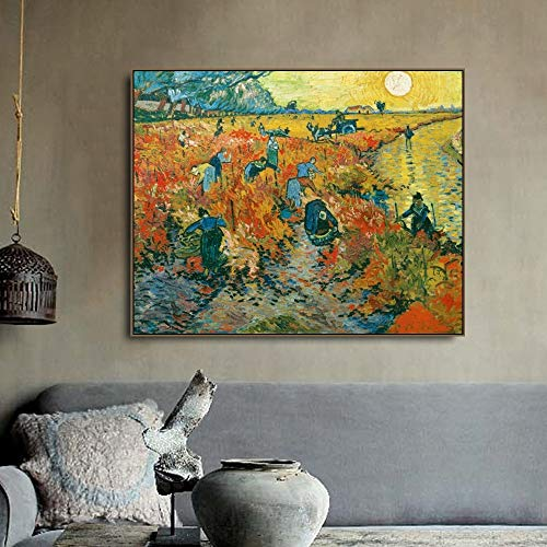 Die Red Vines Poster drucken Leinwand Malerei Kalligraphie Bild an der Wand für das Wohnzimmer Schlafzimmer nach Hause rahmenlose dekorative Leinwand Malerei P75 60x90cm