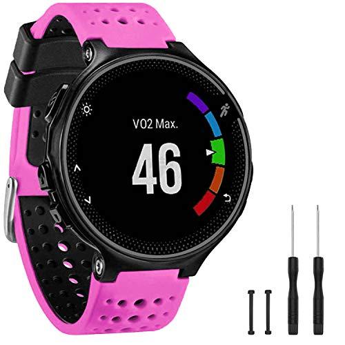 GVangel Correa compatible con Garmin Forerunner 235, correa de repuesto de silicona suave para reloj inteligente...