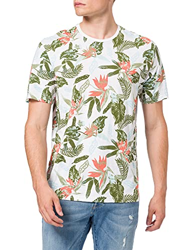 Only & Sons ONSKLOP Life REG SS AOP tee Camiseta, Blanco, XS para Hombre