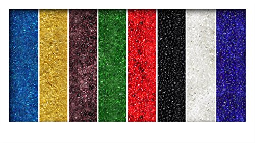 8 kg Glaskies Glasgranulat Streudeko Tischdeko Dekosteine Glasdeko Nuggets 3-6 mm
