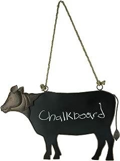 Rustic Brown Metal Cow Shaped Hanging Chalkboard