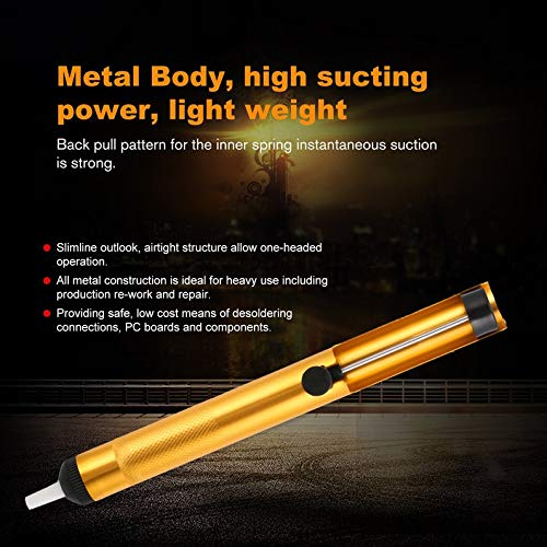 ukYukiko Aluminium Metalen Desoldering Pomp Zuig Tin Gun Solderen Zuiger Pen Hand Tool