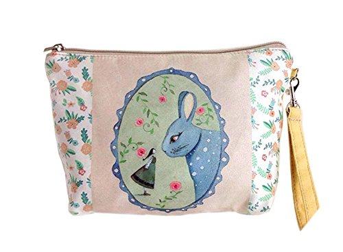 créative et drôle lapin toile sacs cosmétique/bourse