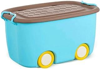 Lpiotyucwh Paniers et Boîtes De Rangement, Boîte de rangement en plastique Boîte de rangement de jouet Ménage de grande ca...