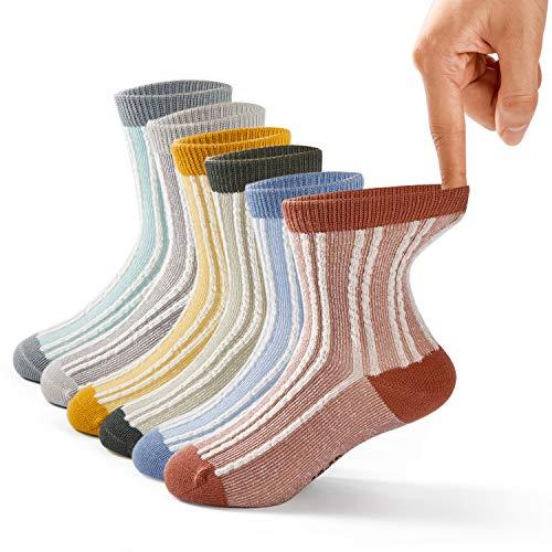 of carters socks dec 2021 theres one clear winner Boys Cotton Crew Socks Kids Seamless Toe Socks Colorful Athletic Quarter Socks