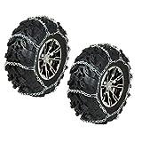 REAR ATV Tire Chains Pair 2002-2008 Polaris Sportsman 700 4x4 Carb, EFI, X2