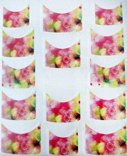 CM Nail Art manucure Stickers Ongles Scrapbooking: 14 décalcomanies Motifs Fleurs