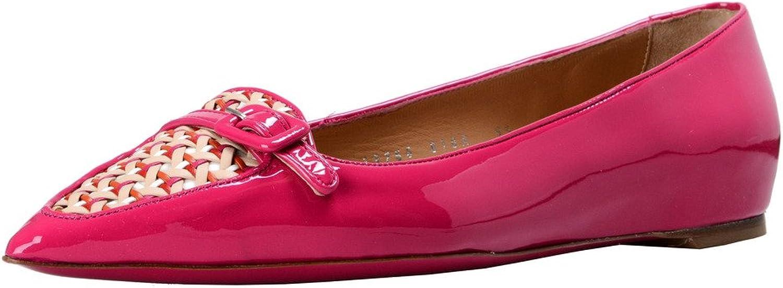 Salvatore Ferragamo Women's Paige Leather Ballet Flats shoes