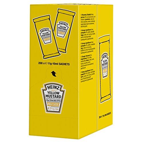 Gelber Senf Heinz yellow Mustard mild/classic 200 x 11g-10 ml.