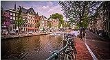 YZYHAO Rompecabezas 1000 Piezas Carteles del Canal de Amsterdam Juguetes de Papel para Adultos Juego de descompresión《38x26cm》