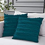 Longhui bedding Teal Throw Pillow Covers for Couch Sofa...