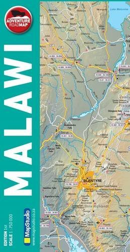 Malawi 1 : 750 000: Adventure Road Map