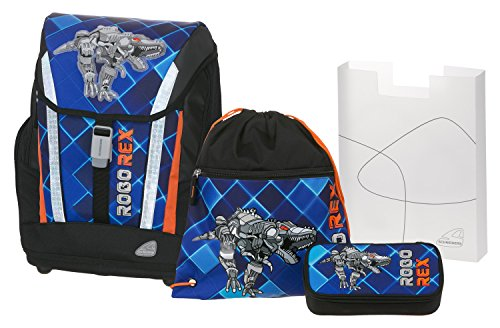 Angry Birds School Backpack Set 4/1 Soft Robo Rex 78303 Mochila Infantil 40 Centimeters 24 Multicolor (Blue and Black)