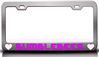 Custom Brother - BUMBLEBEES with Heart Steel Metal License Plate Frame Auto Tag Holder Holder Ch