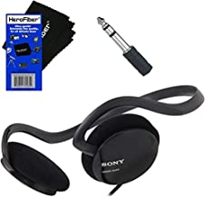 Sony Behind-The-Neck Stereo Headphones with Powerful Bass + Mini Plug to 1/4