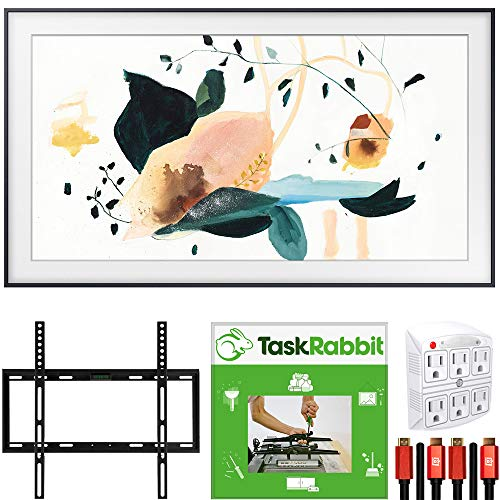SAMSUNG QN43LS03TA The Frame 3.0 43-inch QLED Smart 4K UHD TV (2020 Model) Customizable Frame Bundle with TaskRabbit Installation Services + Deco Gear Wall Mount + HDMI Cables + Surge Adapter
