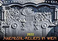 Jugendstil-Reliefs in Wien (Tischkalender 2022 DIN A5 quer): Modern Design an der Hauswand (Monatskalender, 14 Seiten )
