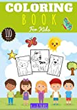 Coloring book for kids: 2-4, 4-6, 6-8 years old Girls and Boys | kindergarten Book of 110 Coloring Drawings | Dog, Cat, Animals, Car, Pirate, Unicorn, ... | Ideal Children's Activity Book Holiday.