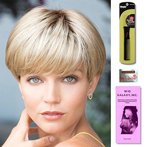 Blake by Noriko, Wig Galaxy Hair Loss Booklet, Wig Cap, Magic Comb (Bundle - 4 Items) (Plumberry Jam-R)
