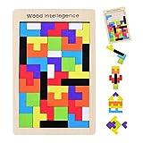 YoungRich Tetris de Madera Tangram Puzzle Bloques de Construcción Juego Tetris del Juguete Rompecabezas de Madera Colorida Caja para Niños Imaginación Intelectual Educativa Aprendizaje y Actividad