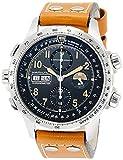 Hamilton Reloj de Hombre automático 45mm Correa de Cuero dial Negro H77796535