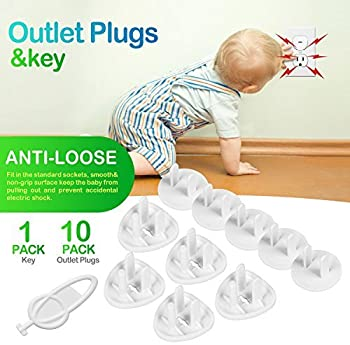 Baby Proofing, 43 Pcs Cabinet Locks Child Safety- 8 Magnetic Cabinet Locks+2 Keys, 16 Clear Corner Protectors, 10 Out...