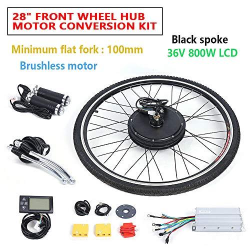 WUPYI2018 Elektro-Fahrrad Kit, 28\'\' 36V E-Bike Hinterrad Umbausatz Kit Elektrofahrrad Vorderrad E-Bike Umbausatz Frontmotor Conversion Kit (500W Mit LCD)