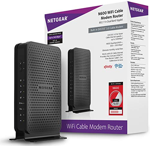 NETGEAR Dual-Band N600 Router with 8 x 4 DOCSIS...