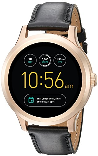 Fossil Q Founder Gen 1 Touchscreen Black Leather Smartwatch