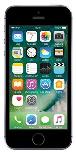 Apple iPhone SE ( (10,2 cm (4 Zoll) Touch-Display, 16 GB, iOS 10) Space Grau