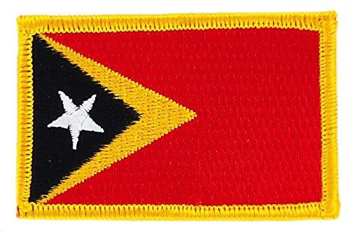 Patch Aufnäher bestickt Flagge Osttimor Flag Aufbügler Abzeichen Backpack