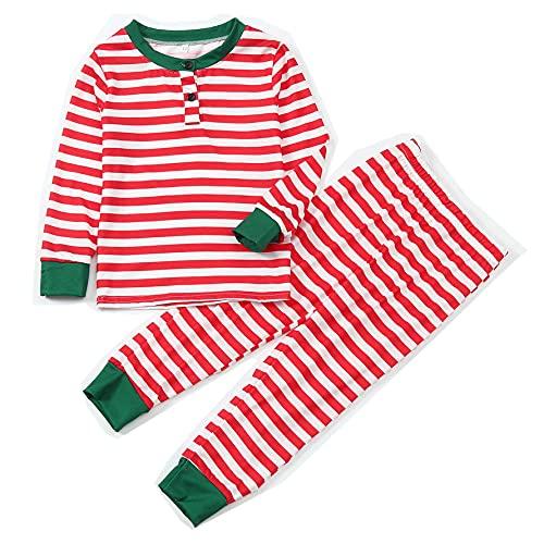 Hengyouhui Schlafanzug Familie Langarm Pyjamas Zweiteilige Nachtwäsche Weihnachten Sleepwear Hausanzug Pyjamahose