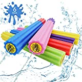 DraMosary Water Blaster Soaker Gun for Kids, 6 Pack Safe Foam Noodles Pump Action Outdoor Squirt Gun for Pool/Beach/Yard/Party Play (Up to 30 ft, 13.8inches, Multicolored)