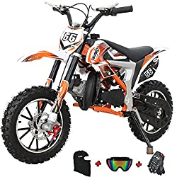 X-Pro Bolt 50cc Dirt Bike Gas Dirt Bike Kids Dirt Bikes Pit Bikes Youth Dirt Pitbike 50cc Mini Dirt Bike