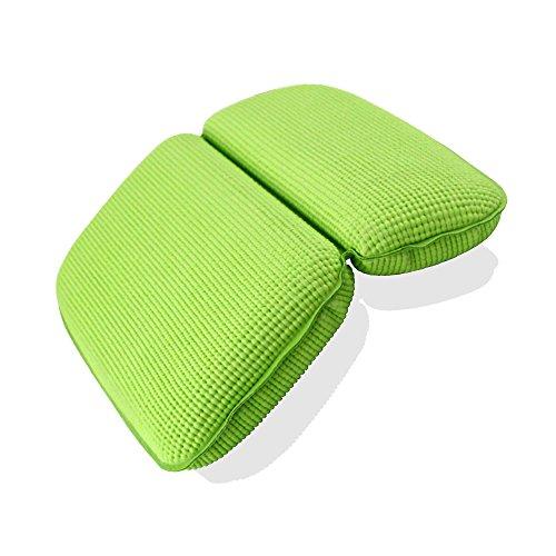 DMDT Solid Color Badewanne Kissen Wasserdicht Badewanne Kissen mit Saugnapf für Home Bad,Grün,37x29cm