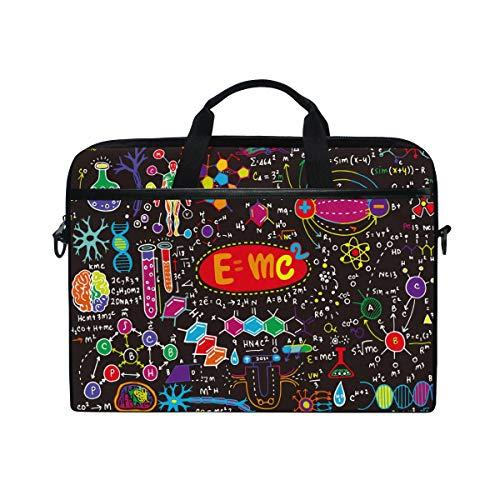HaJie, borsa per computer portatile, educazione fisica e matematica, 35,6-36,8 cm, borsa protettiva da viaggio con tracolla per uomini, donne, ragazzi e ragazze