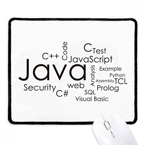 Programmierer Programm Verwandte Java rutschfeste Mauspad Spiel Office schwarz titched Kanten Geschenk