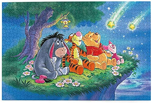 yeeatz D-isney Win-nie The P-ooh Puzzle 1000 Piece Jigsaw Puzzle Kids Adult 29.72×19.8 inches-2